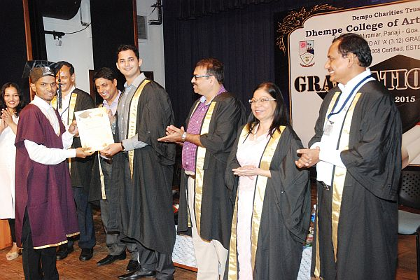 Graduation Day celebration in Dhempe college of Arts and Science