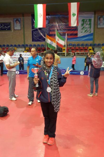 tanisi-kirtani-wins-team-silver-medal-at-ittf-fajr-cup