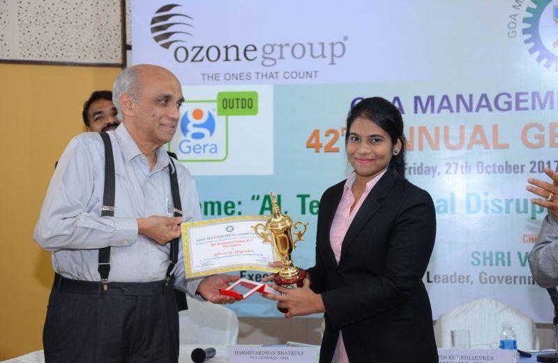 Winner of GMA Best Management Student 2017 – PG