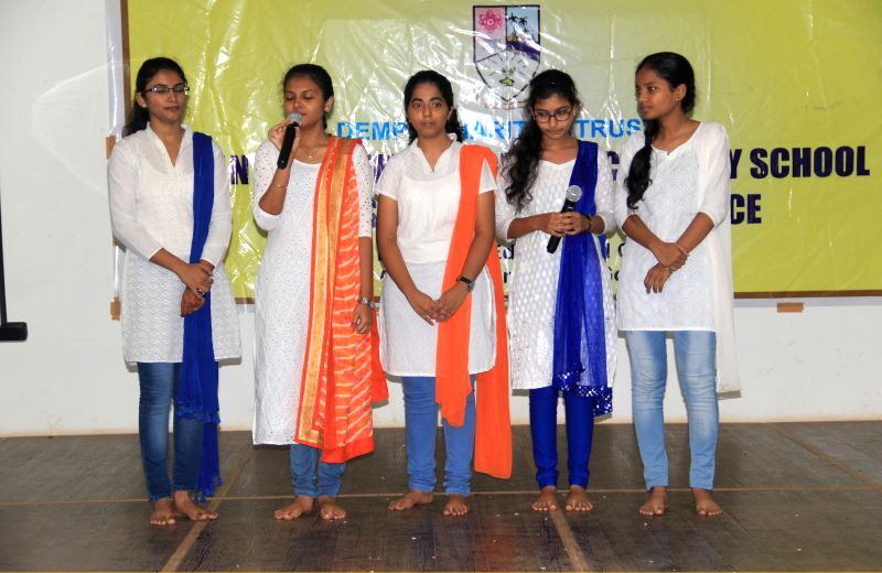 Independence Day Celebrated by Vasantrao Dempo Higher Secondary School